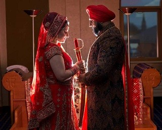 Sikh Wedding Photography and Video at Gurdwara Sahib, Leamington & Warwick